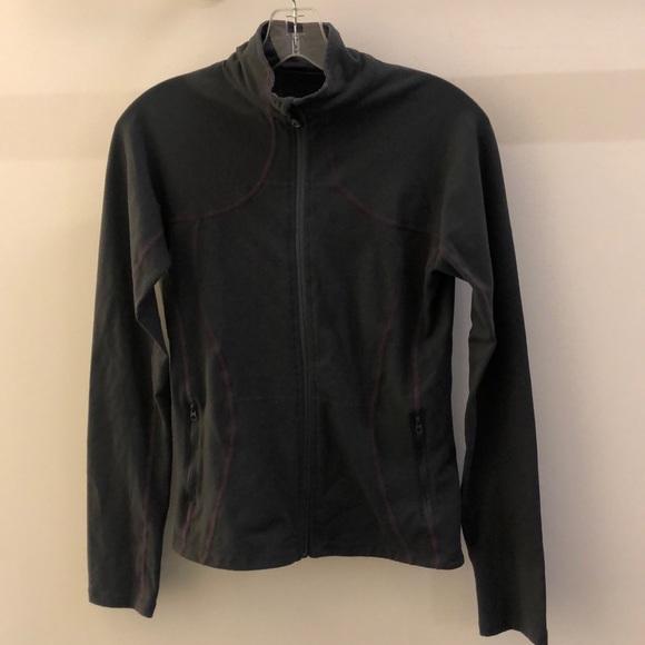lululemon athletica Jackets & Blazers - Lululemon gray with purple jacket, sz 8, 68960